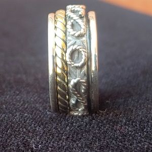 🆕 Meditation Spinner Ring Size 6.5 .925 Silver